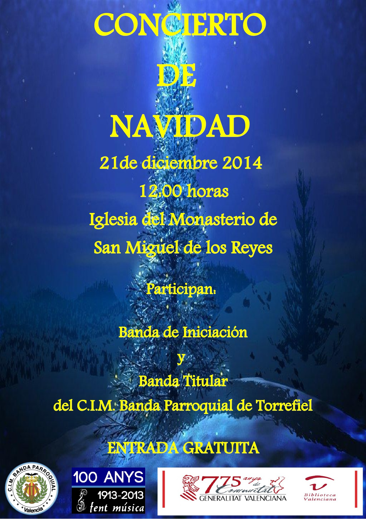 Cartel concierto navidad 2014