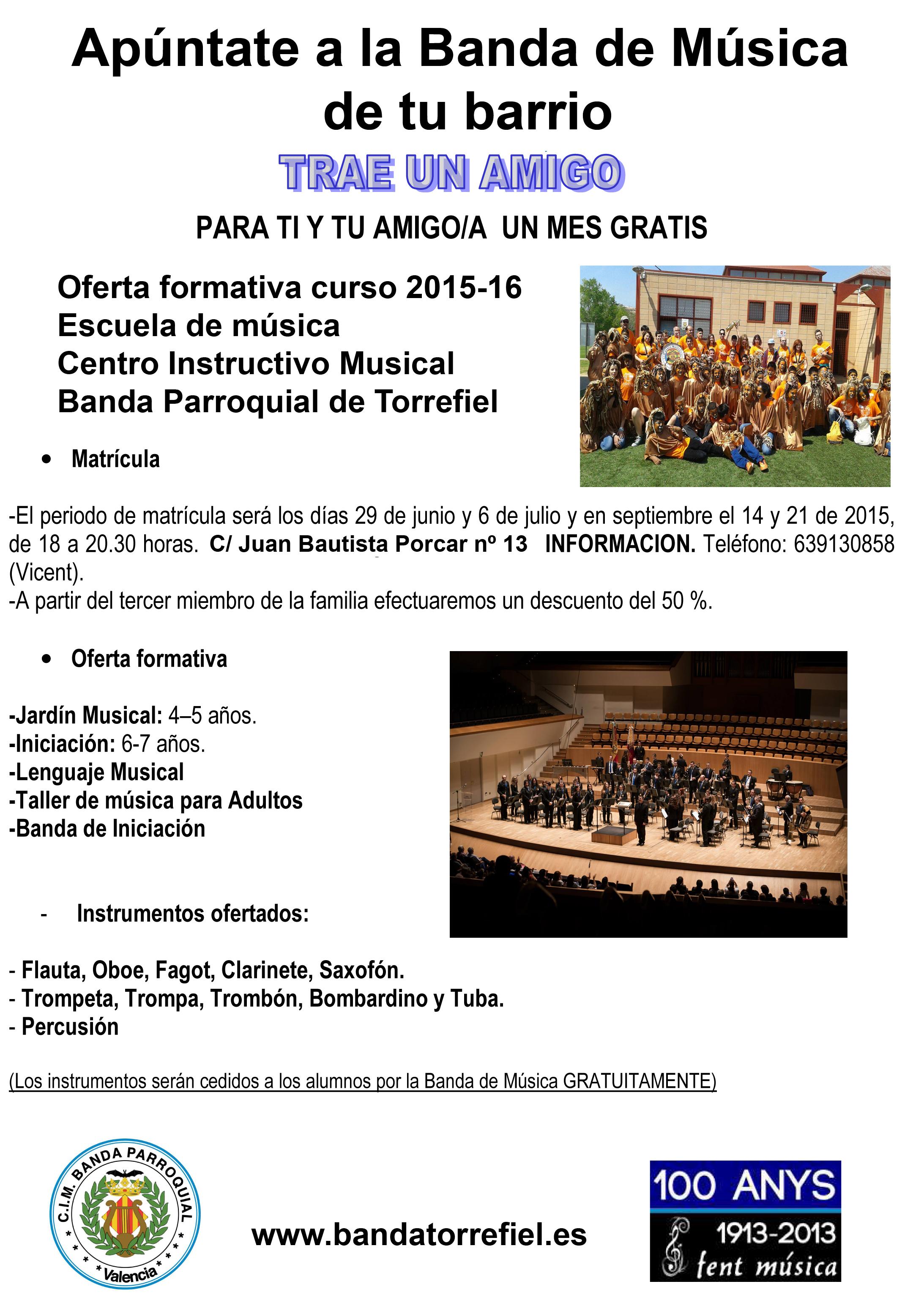Oferta formativa curso 2015