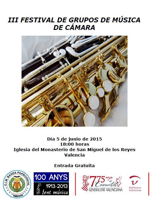 Programa III Festival de Grupos de Música de Cámara